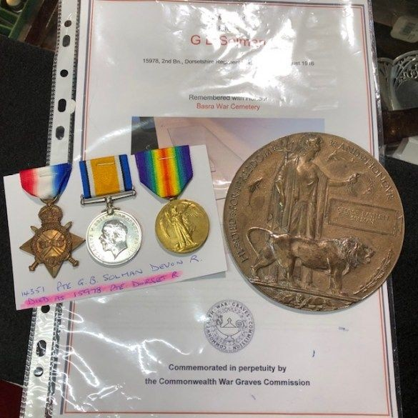 WW1 Death Penny and Trio Set of Medals