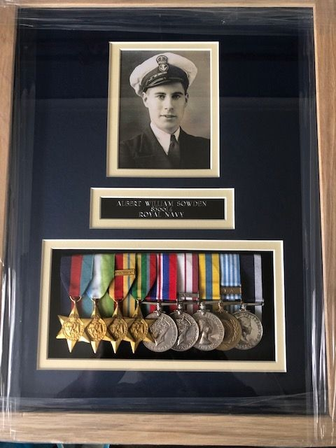 Medal Mounting and Framing Service - A Local Interest Royal Naval WW2 and Korean War Medal Group.