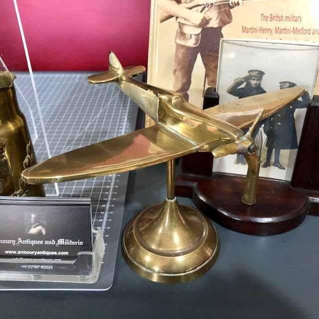 ***New In*** WW2 Solid Brass Study of a Spitfire Fighter.