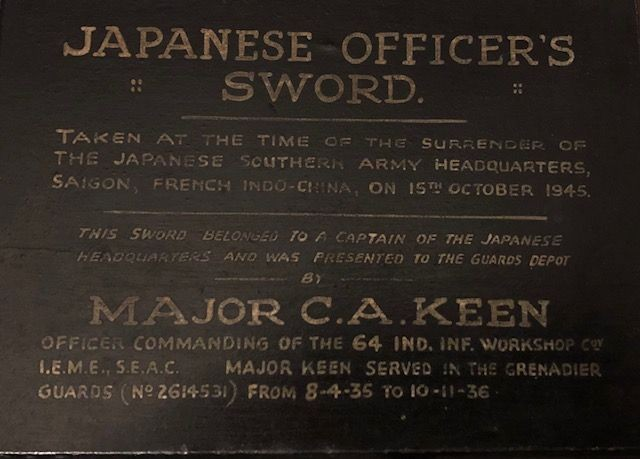 A WW2 Captains' surrender presentation Japanese sword -  I.E.M.E., SEAC.