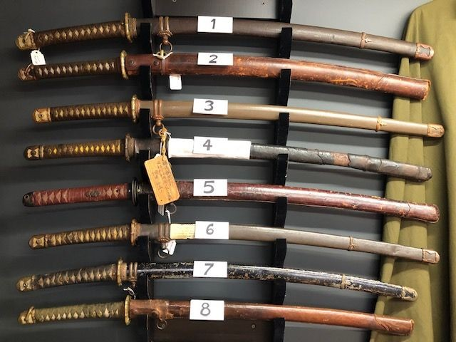 Genuine (un-restored) Japanese Swords Always in Stock - Here are Just a Few...