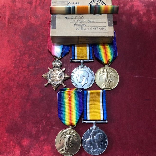 Rare WW1 Father and Son Medal Grouping.