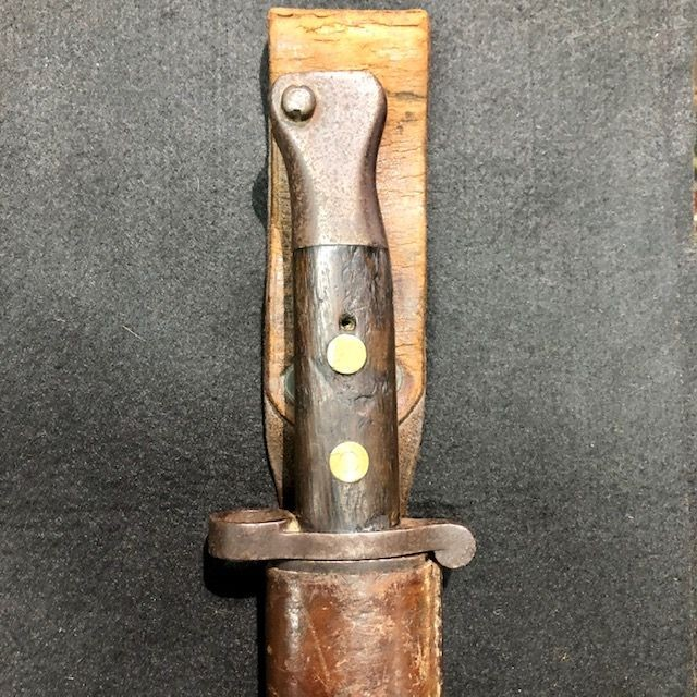 C1888 MKII Lee Metford Bayonet Maker Marked with Numerous Government Stamps. Complete with Original Frog.