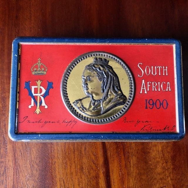Very Rare Soldiers Boer War Chocolate Tin With Original Liner.