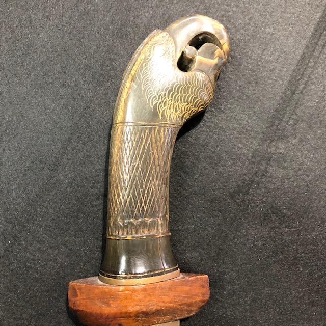 Golok Indonesian Klewang Tribal Short Sword with 17th Century Wakizashi  Blade