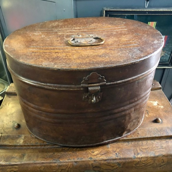 Antique Military Hat Tin 1